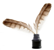 bigstock-Feathers-and-ink-bottle-11555816
