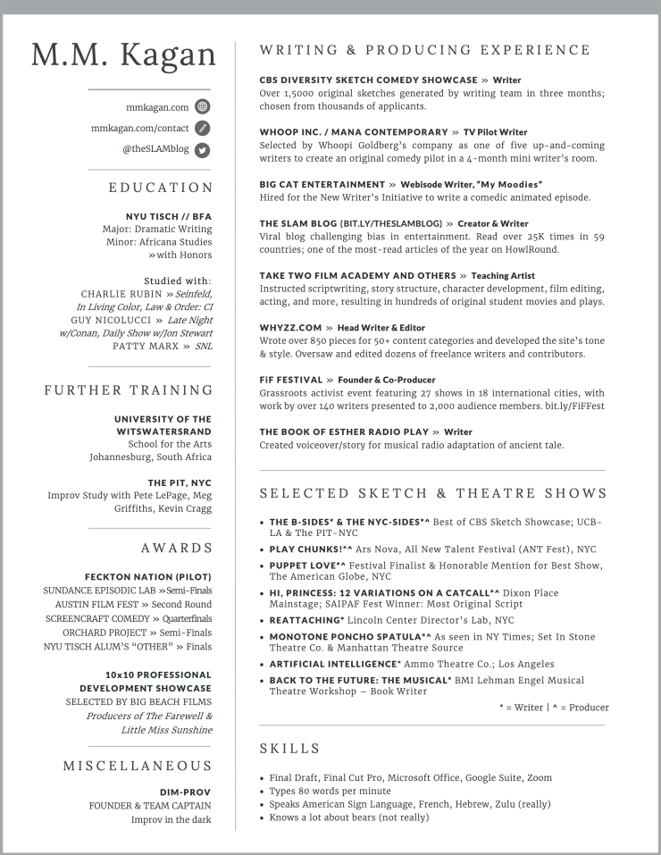 MMKagan Resume